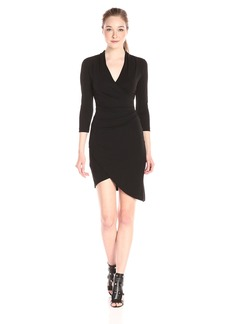 Nicole Miller Women's Stefanie Stretchy Matte Jersey Long Sleeve Dress