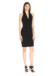 Nicole Miller Women's Stretchy Matte Jersey Cowl Dress