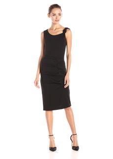 Nicole Miller Women's Stretchy Matte Jersey Knot Dress