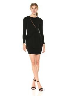 Nicole Miller Women's Stretchy Matte Jersey Long Sleeve Dress  L