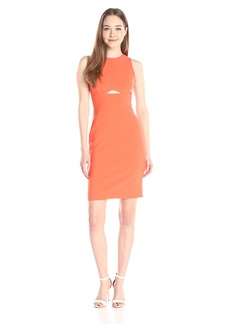 Nicole Miller Women's  Stretchy Tech Cut Out Shift Dress