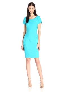 Nicole Miller Women's Stretchy Tech Seamed Dress