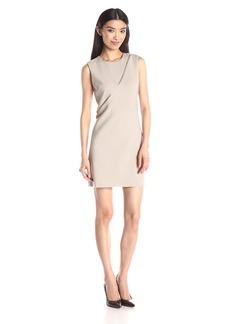 Nicole Miller Women's Stretchy Tech Sleeveless Zipper Dress