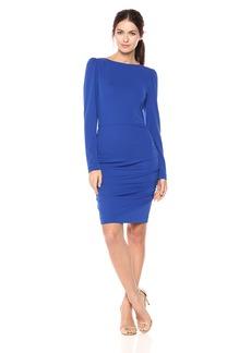 Nicole Miller Women's Strtchy Matte Jersey L/s Dress  L