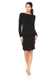 Nicole Miller Women's Strtchy Matte Jersey L/s Dress  M