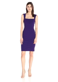 Nicole Miller Women's Structured Heavy Jersey Seamed Dress