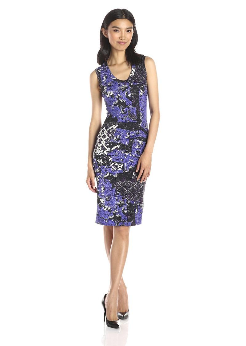 Nicole Miller Women's Tarnished Textile Jersey Dress