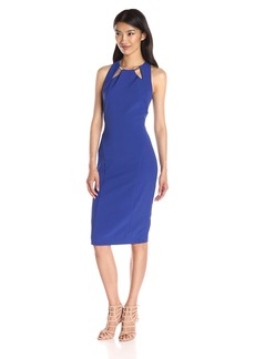 Nicole Miller Women's Techy Crepe Cutout Dress Withhardware