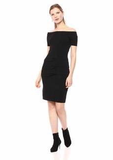 Nicole Miller Women's Tidal Pleat Off The shlder Dress  S