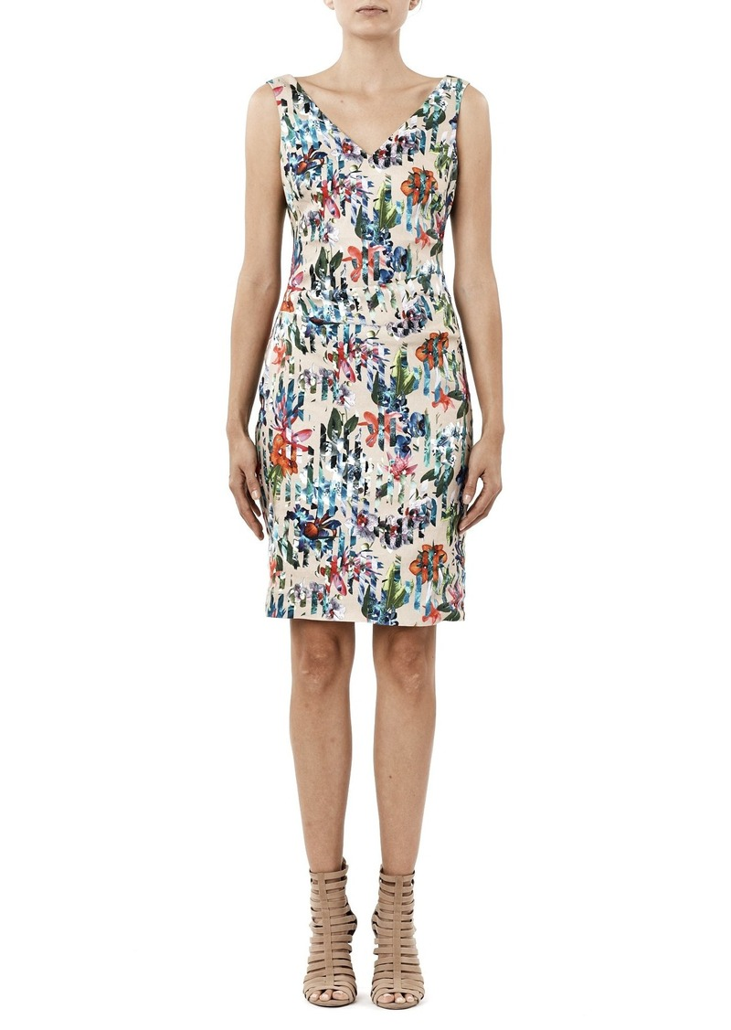 Nicole Miller Women's Tropic Split Kenna V-Neck Dress