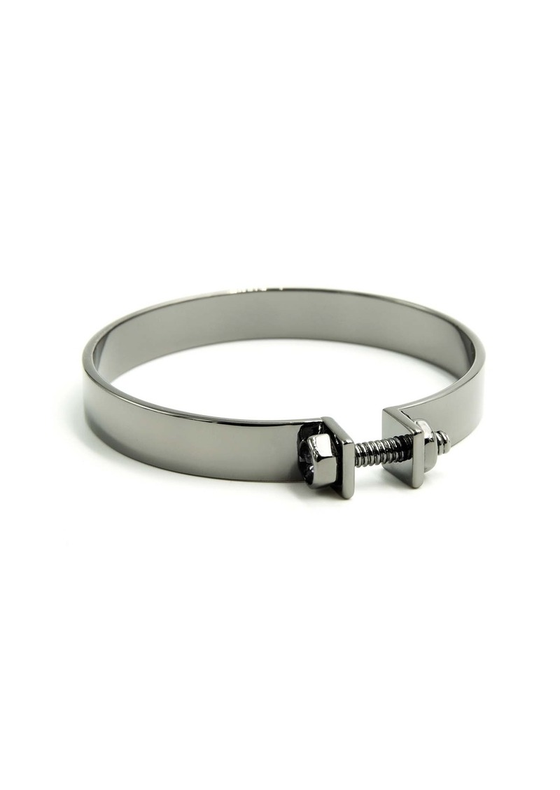 Nicole Miller Nuts and Bolts Clamp Bangle