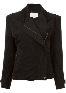 Nicole Miller off-center zip fitted jacket