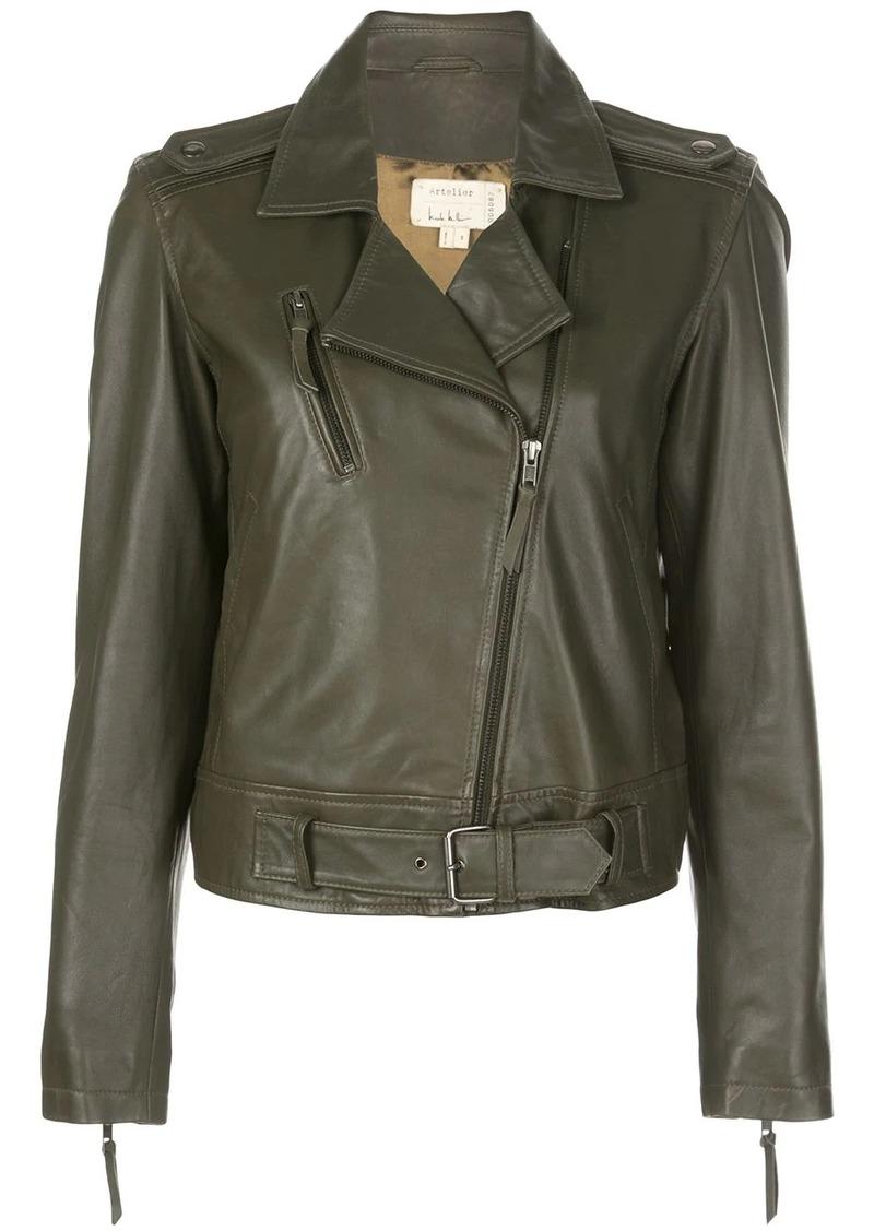 Nicole Miller off-centre zipped jacket