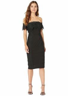 Nicole Miller Off-Shoulder Lace Dress
