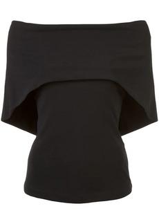 Nicole Miller jersey cape top