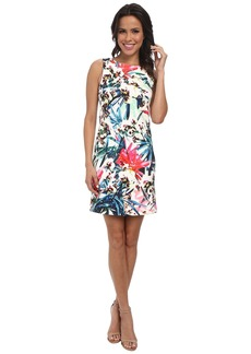 Nicole Miller Orchid Jungle Neoprene Shift Dress
