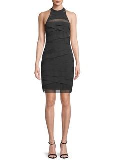 Nicole Miller Overlay Halter Dress