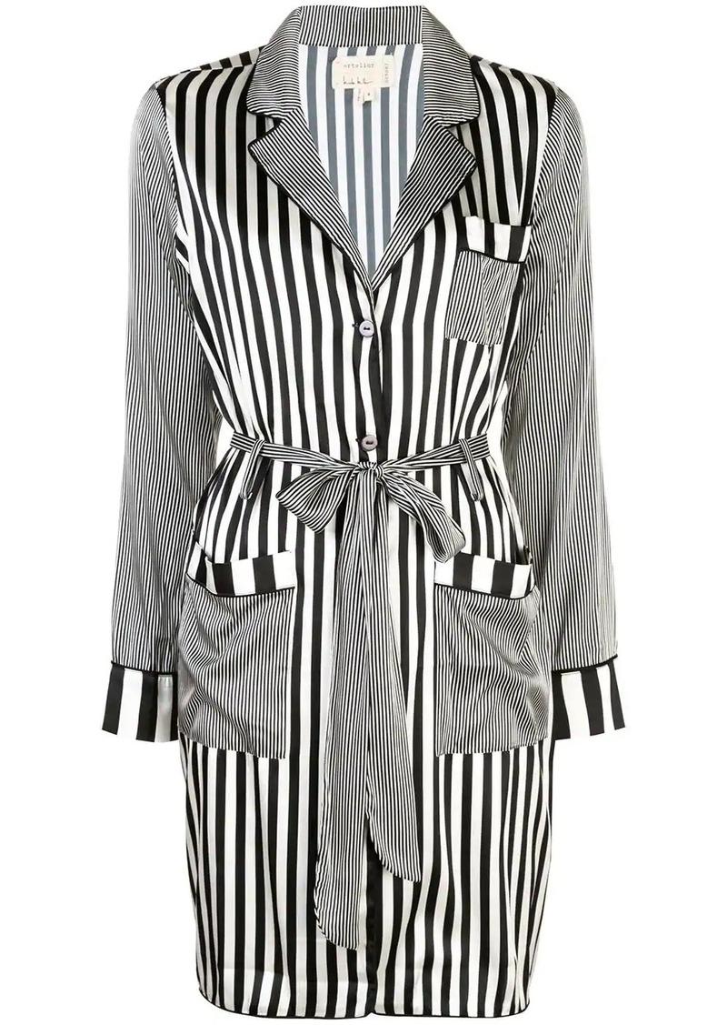 Nicole Miller Pajama stripe long coat
