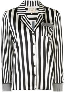 Nicole Miller Pajama stripe shirt