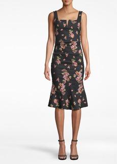 Nicole Miller Pink Dawn Midi Dress