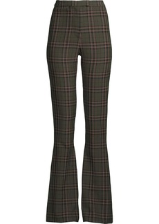 Nicole Miller plaid bell-bottom trousers