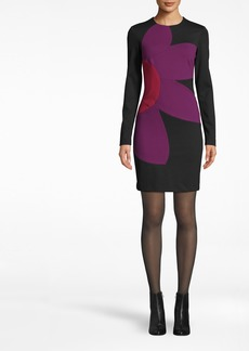 Nicole Miller Ponte Flower Dress