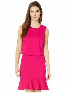 Nicole Miller Ponte Pop Over Dress