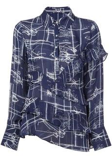 Nicole Miller blueprint blouse