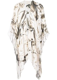 Nicole Miller printed kimono safari jacket