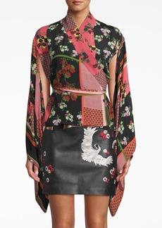 Nicole Miller Provence Floral Wrap Top