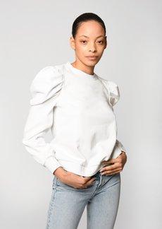Nicole Miller Puff Sleeve Sweatshirt