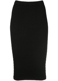 Nicole Miller ribbed pencil skirt