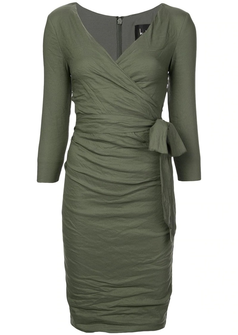 Nicole Miller ruched tie waist dress
