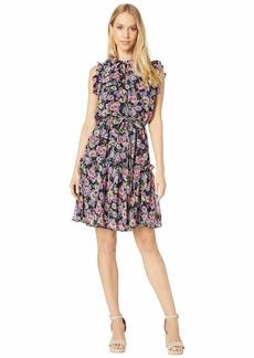 Nicole Miller Ruffle Floral Dress