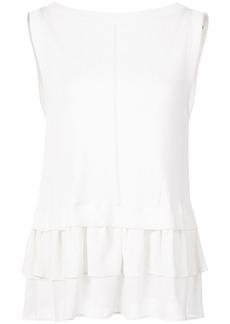 Nicole Miller ruffle sleeveless blouse