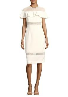 Nicole Miller Ruffled Knee-Length Dress