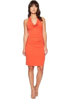 Nicole Miller Samara Cowl Neck Halter Dress