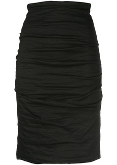 Nicole Miller Sandy ruched skirt