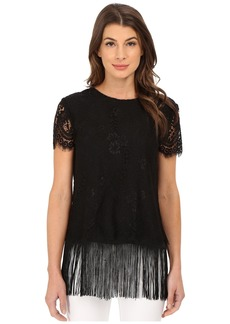 Nicole Miller Sascha Fringe and Lace Top Dress