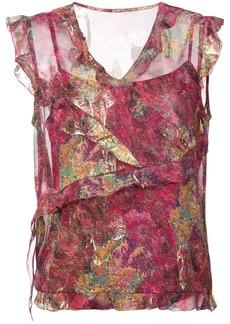 Nicole Miller sequin asymmetric blouse