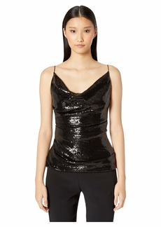"Nicole Miller Sequin ""Carly"" Cowl Neck Top"