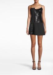 Nicole Miller Sequin Combo Mini Dress