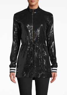 Nicole Miller Sequin Drawstring Jacket