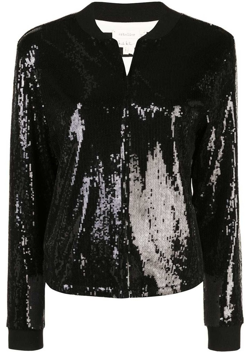 Nicole Miller sequined fitted jacket