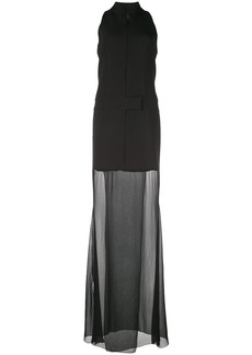 Nicole Miller sheer hem dress
