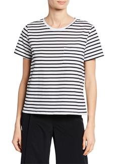 Nicole Miller Short-Sleeve Stripe T-Shirt