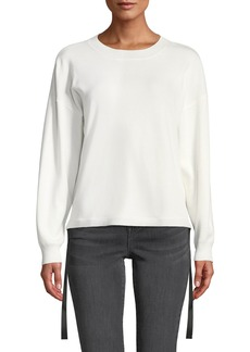 Nicole Miller Side Tie Long-Sleeve Pullover Sweater