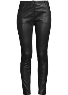 Nicole Miller skinny leather trousers