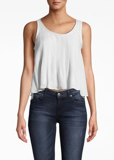 Nicole Miller Skylar Solid Silk With Picot Tank