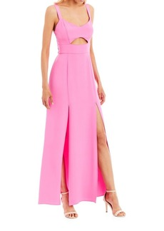 Nicole Miller Sleeveless Cutout Gown